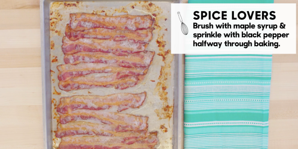 How to cook bacon in the oven best way to make oven baked bacon preheat the oven for 400 degrees f place sheet pan in the oven on the uppermost rack and begin baking after 12 minutes switch the pan to the lower rack ccuart Images