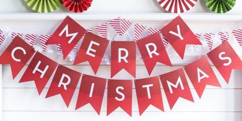 100 easy christmas crafts for 2017 ideas for diy christmas merry christmas banner solutioingenieria Choice Image