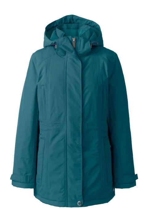 15 best women 39 s winter coats 2017 warm winter jackets for Lands end logo shirts