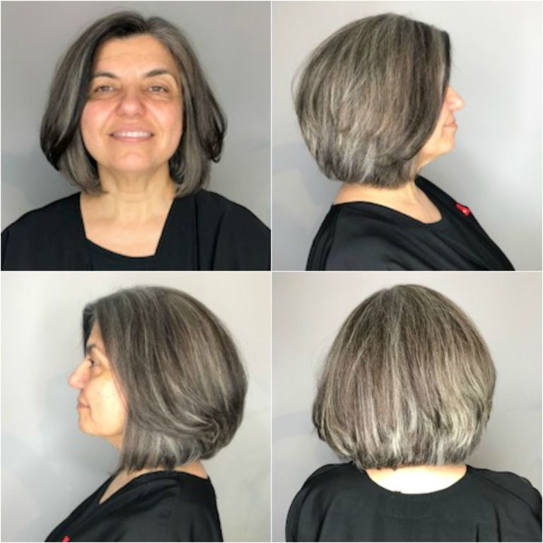 90 Growing Out Grey Hair With Highlights Dr Aral Before