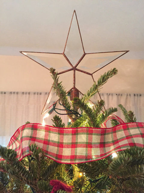 beveled glass star - Christmas Tree Tops