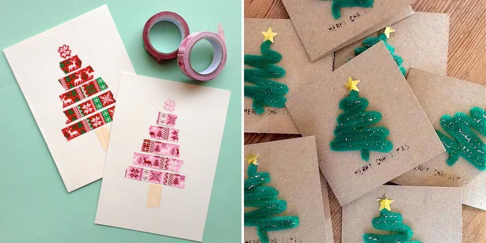 how to make easy christmas cards