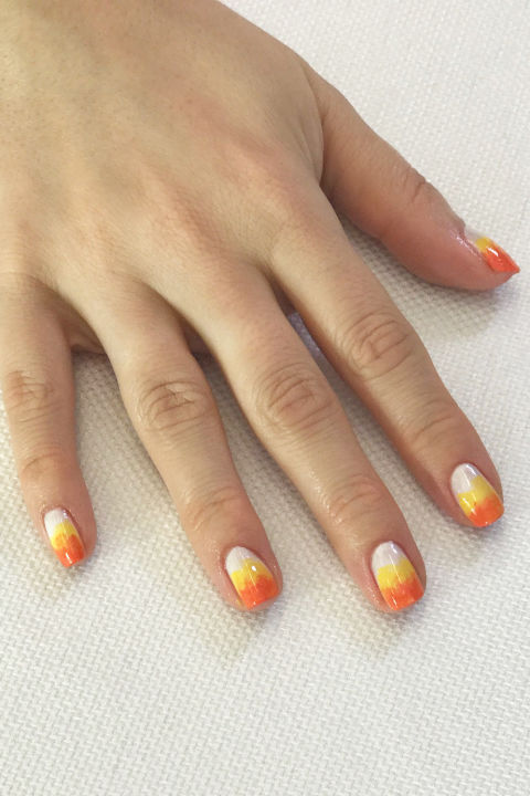 55 halloween nail art ideas easy halloween nail polish designs ombre candy corn prinsesfo Image collections