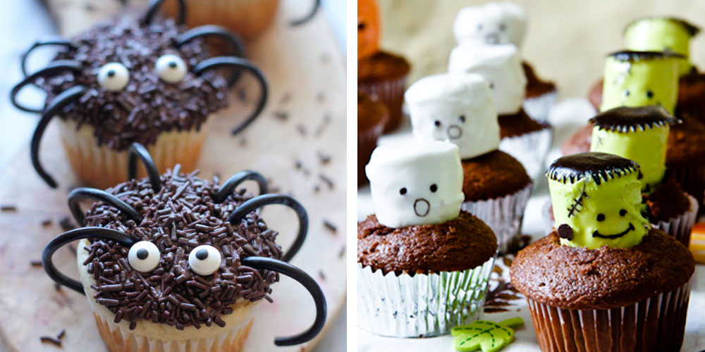 34 cute halloween cupcakes easy recipes for halloween cupcake ideas - Halloween decorations for cupcakes ...