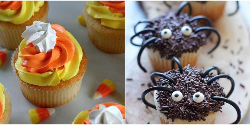 34 cute halloween cupcakes easy recipes for halloween cupcake ideas - Decorate Halloween Cupcakes
