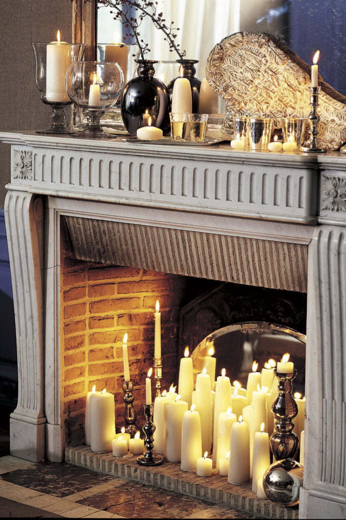 Fireplace Candle Holder Wrought Iron Candle Holders For