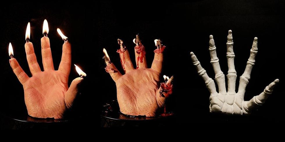 Bleeding Hand Candle - Halloween Hand Candles