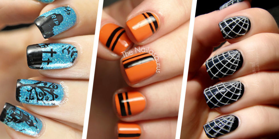 55 halloween nail art ideas easy halloween nail polish designs view gallery prinsesfo Image collections