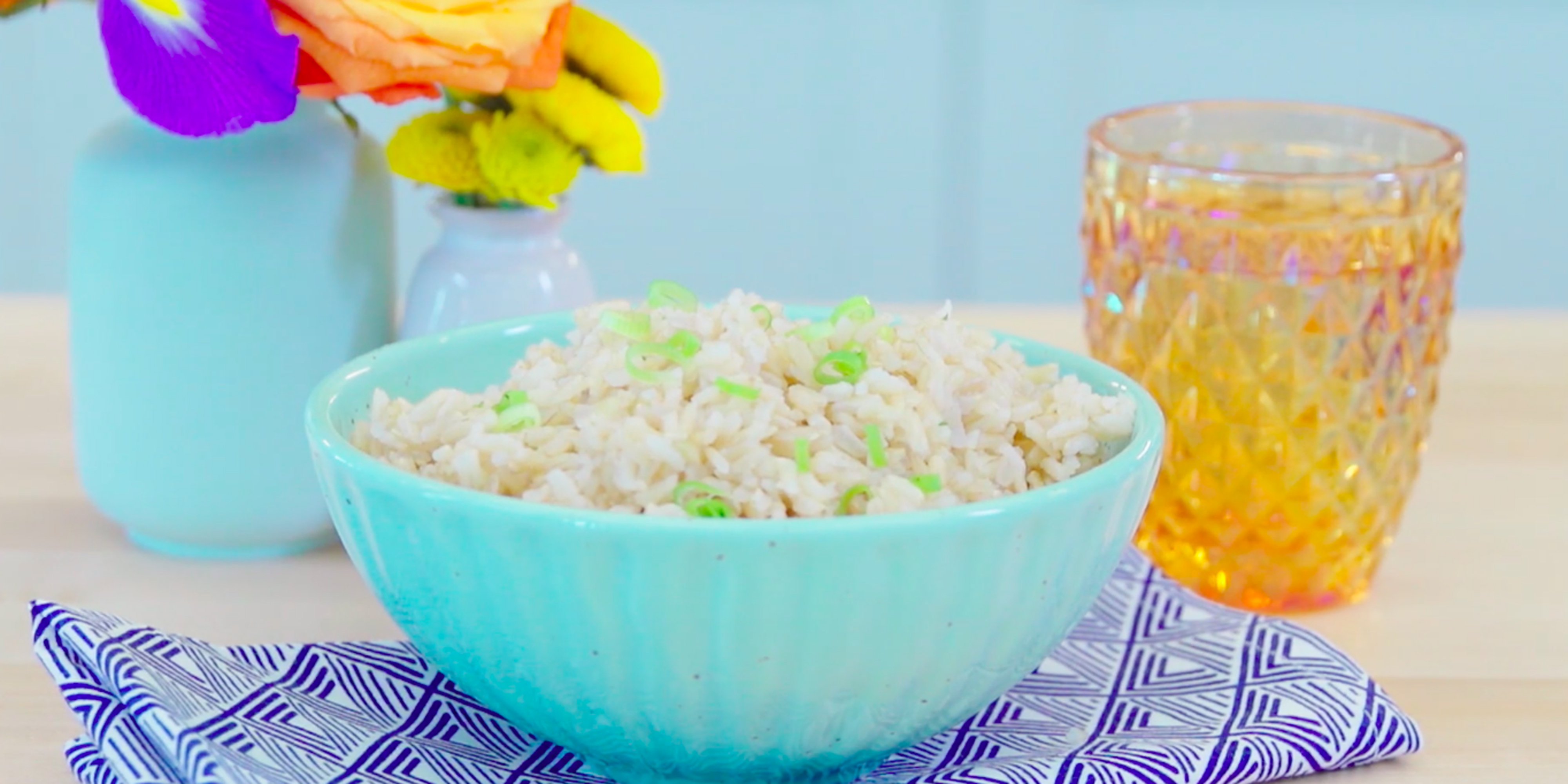 how to make brown rice cook faster