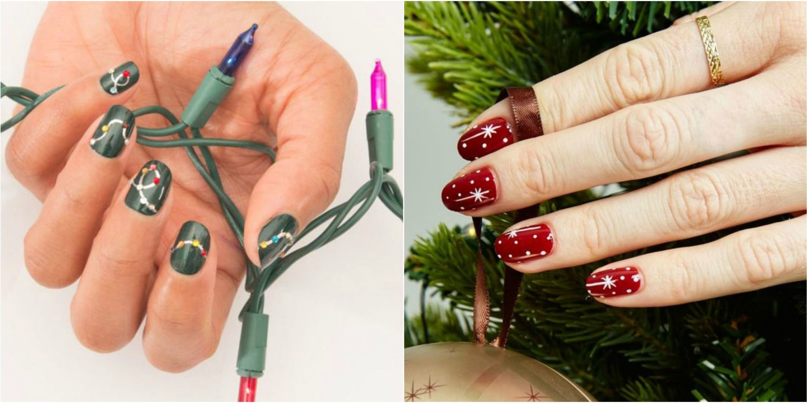 32 festive christmas nail art ideas easy designs for holiday nails