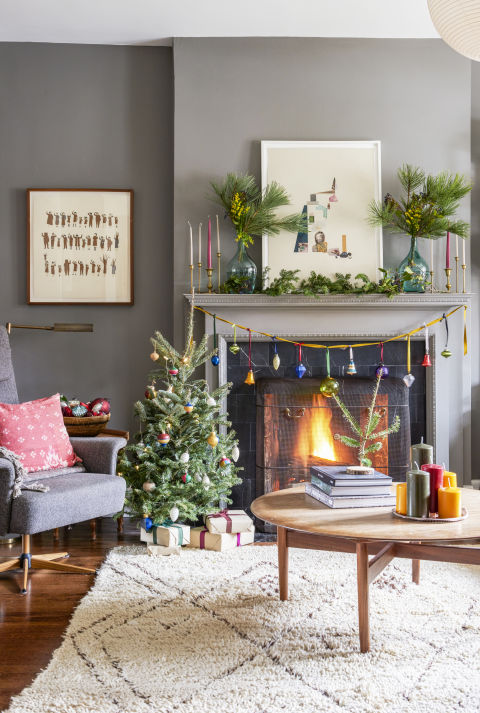 Bigger isn't always better. A tiny tree brings plenty of cheer, and it's easier for kids to decorate. Just maybe put the more fragile ornaments somewhere else ...