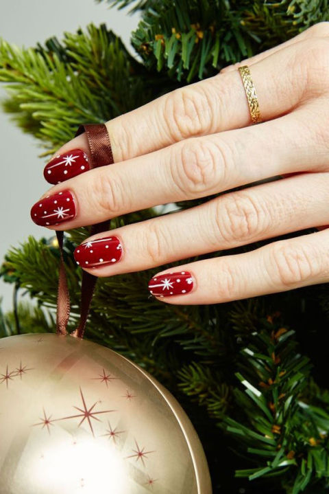 32 festive christmas nail art ideas easy designs for holiday nails twinkling stars prinsesfo Gallery