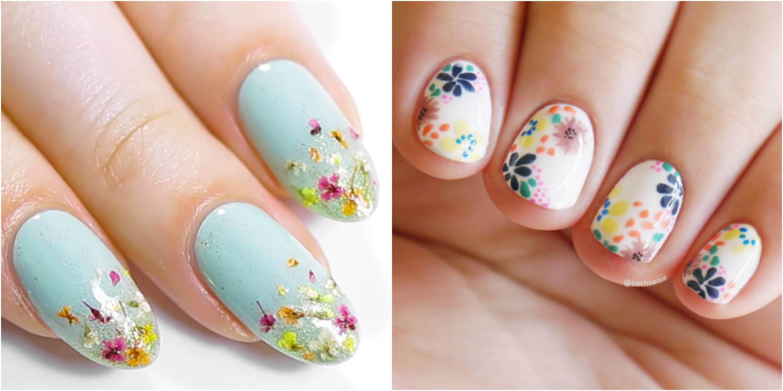 20 flower nail art design ideas easy floral manicures