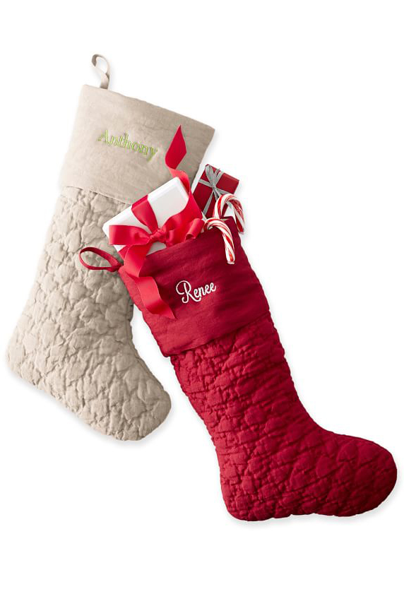 20 personalized christmas stockings embroidered and monogrammed stockings to buy - Light Up Christmas Socks