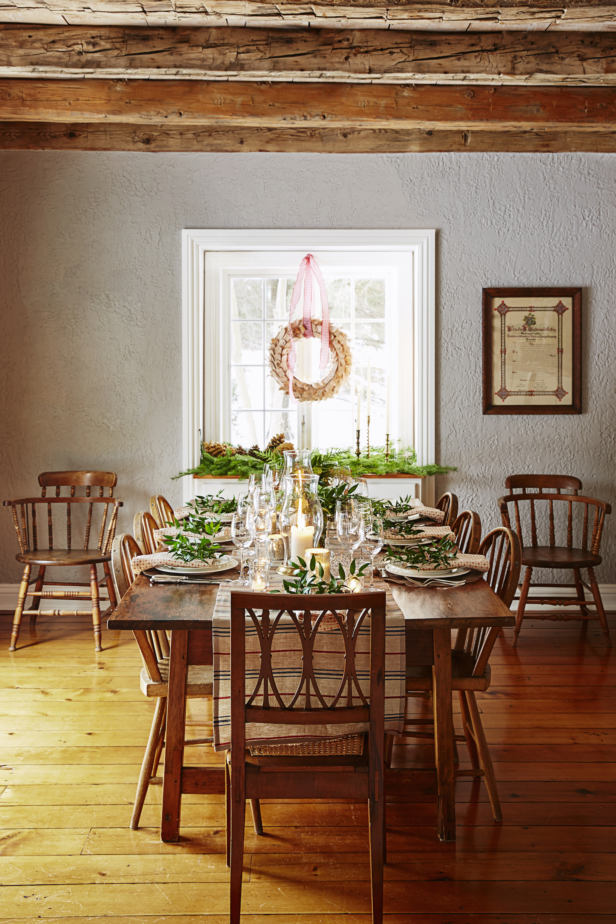 Best of dining room table decoration for christmas light of dining room - Dining room table settings ...
