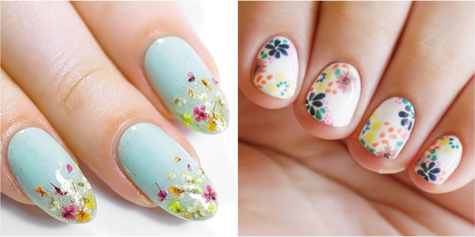 20 flower nail art design ideas easy floral manicures