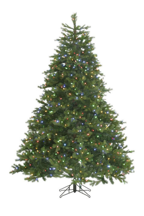 ge dual color light norway spruce - Best Pre Lit Christmas Tree