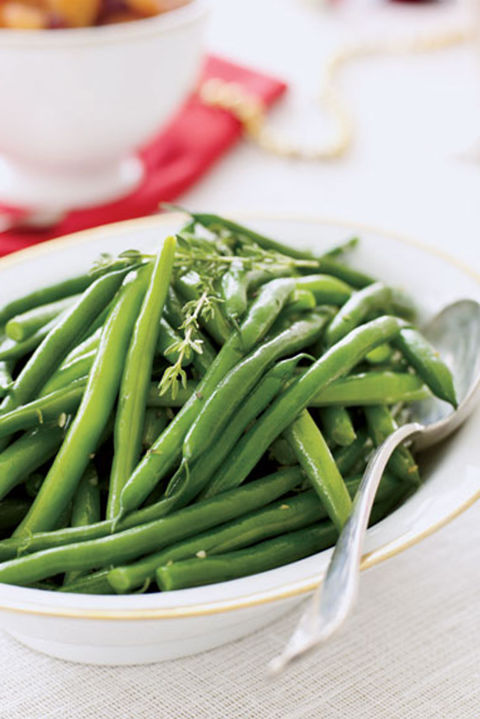 Tossed with garlic and thyme, these greens are full of flavor and low in calories. 