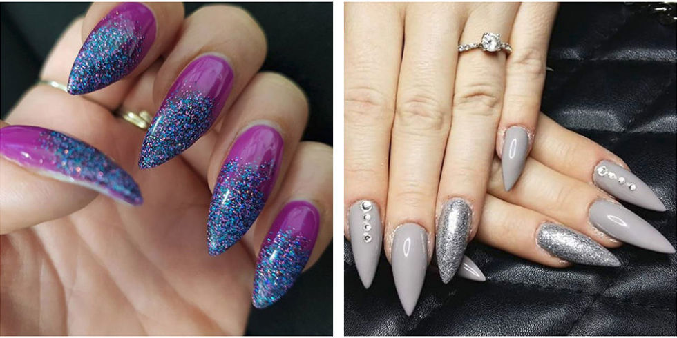 13 cute stiletto nail designs best ideas for long and short view gallery prinsesfo Choice Image