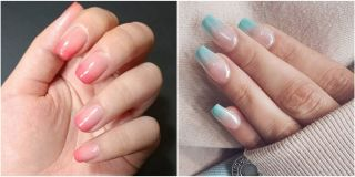 Glass nail art is a beautiful new manicure trend glass nails 14 prettiest ombre nail ideas prinsesfo Choice Image