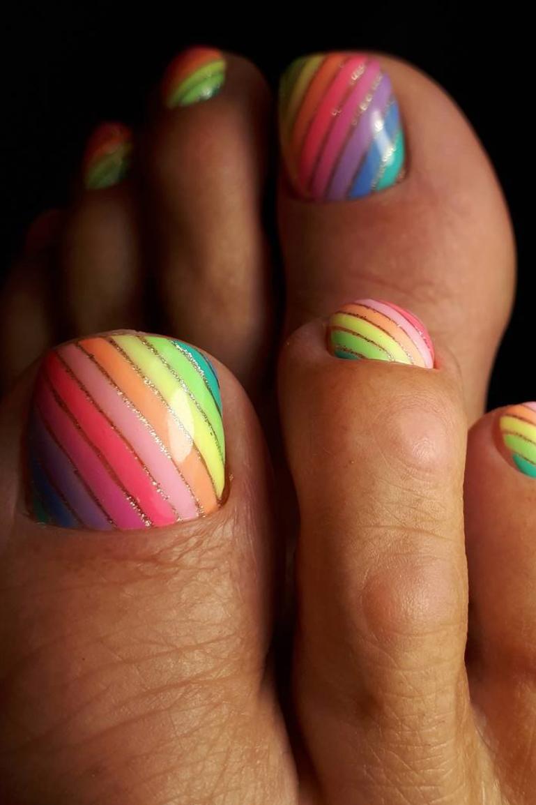 12 Cute Toe Nail Art Designs 2018
