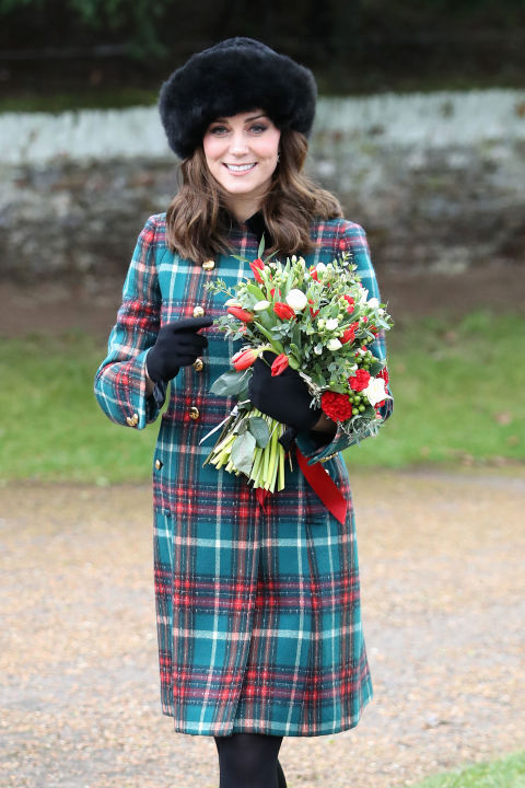 December 25, 2017 &mdash; The Duchess attended Christmas services&amp;nbsp;in Norfolk wearing a tartan Miu Miu coat. The look may have a hidden meaning behind it too. The Daily Mail called it a &quot;nod to the secret trips&amp;nbsp;she took to Anstruther in Scotland with her then-fianc&eacute;.&quot;