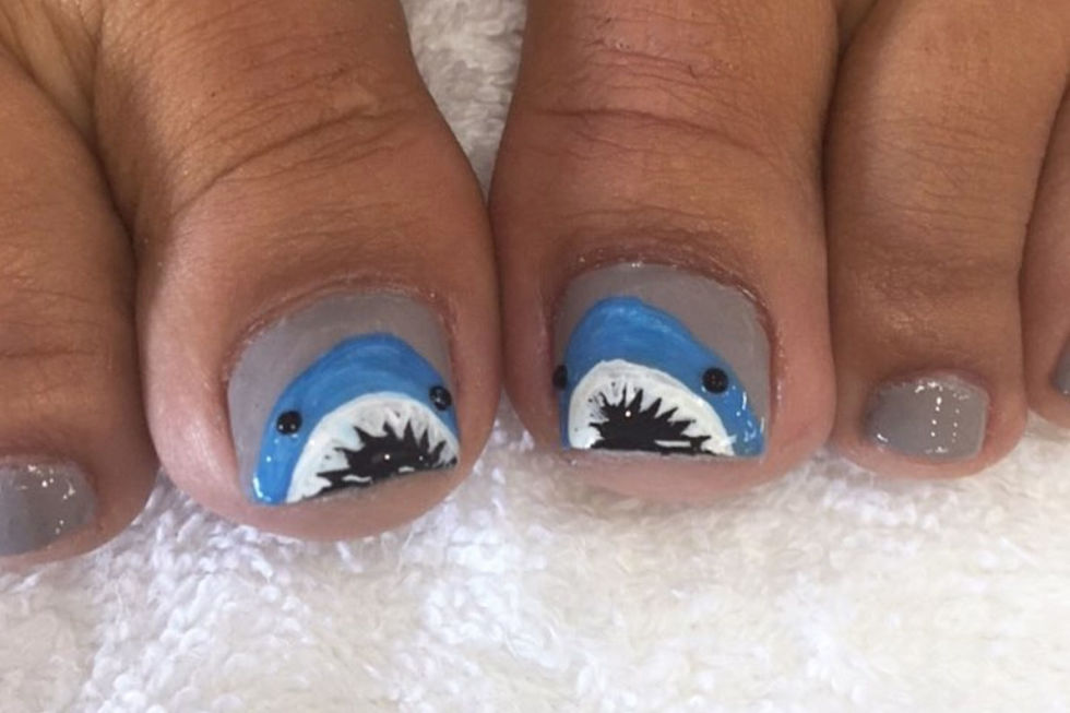 These hilariously cute big-toe sharks really pop against a neutral base like China GlazeNail Lacquer inDope Taupe($8,amazon.com). See more on Instagram »