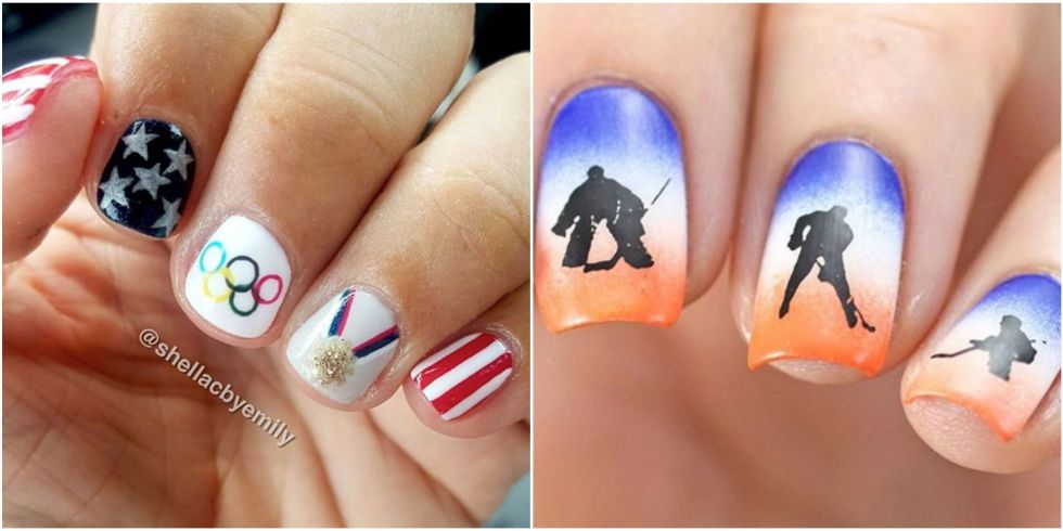 10 olympic nail art ideas that deserve a gold medal 2018 winter 12 photos prinsesfo Images