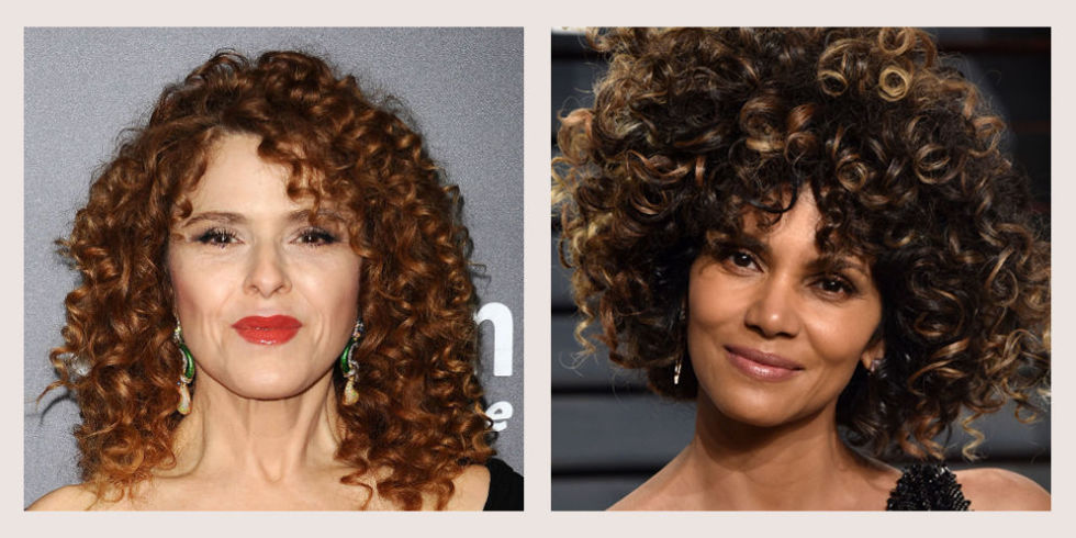 Curly Hair Cut Style for round face