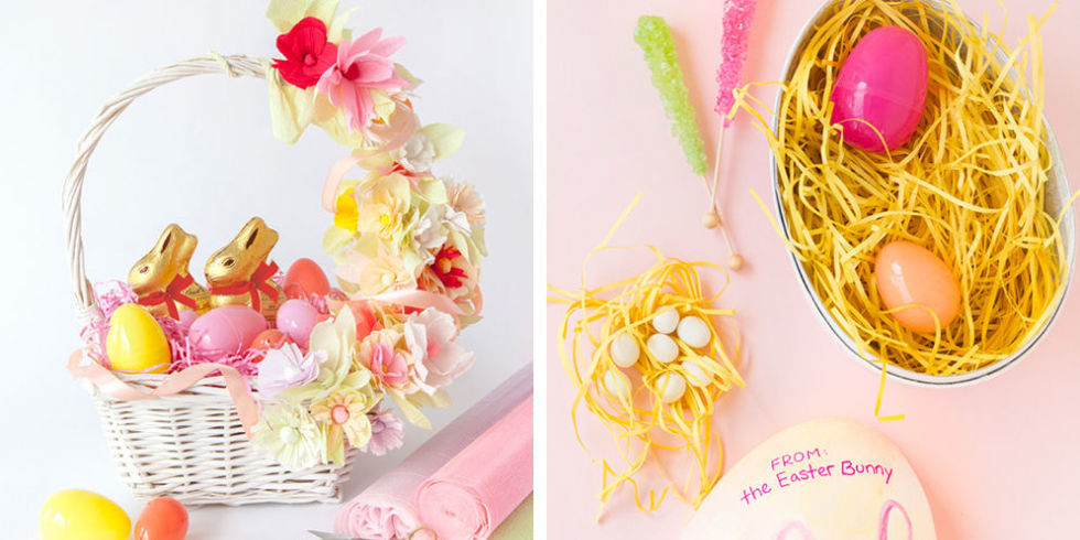 38 diy easter basket ideas unique homemade easter baskets good 39 photos negle Image collections