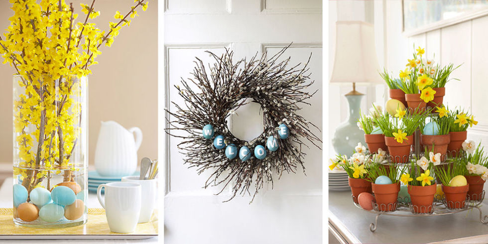 Easter decorations ideas best home design 2018 for Diy easter decorations home
