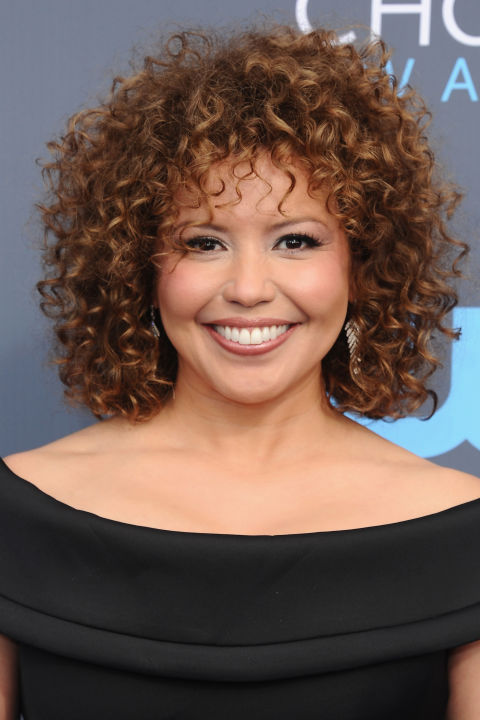 Celebrity curly hair style