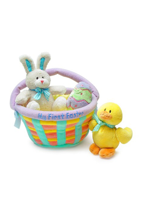 15 cute easter gifts for babies babys first easter basket fillers my first easter basket negle Images