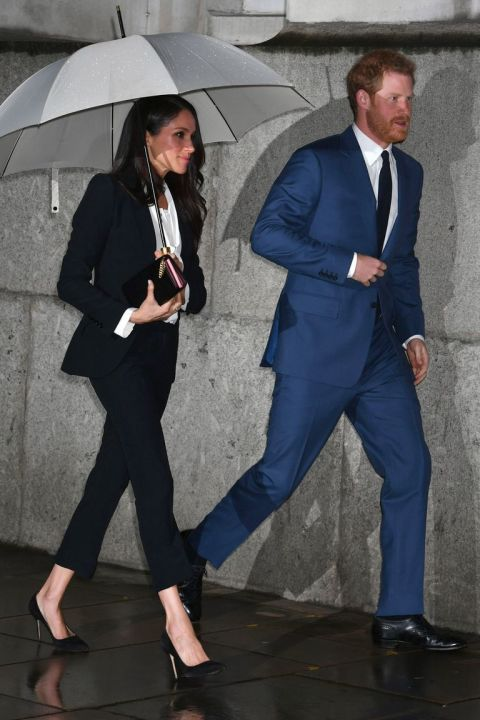 meghan markle and prince harry just wore suits together