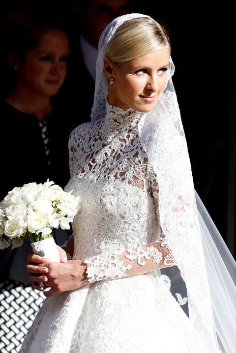 Nicky Hilton's style for her 2015 wedding is a twist on the traditional ballerina bun, worn lower on the crown of the head to easily accommodate a flowing veil. Stock up on pins like the eBoot 100 Pack of U-Shaped Pins ($9, amazon.com) to keep your hair in place on the big day.