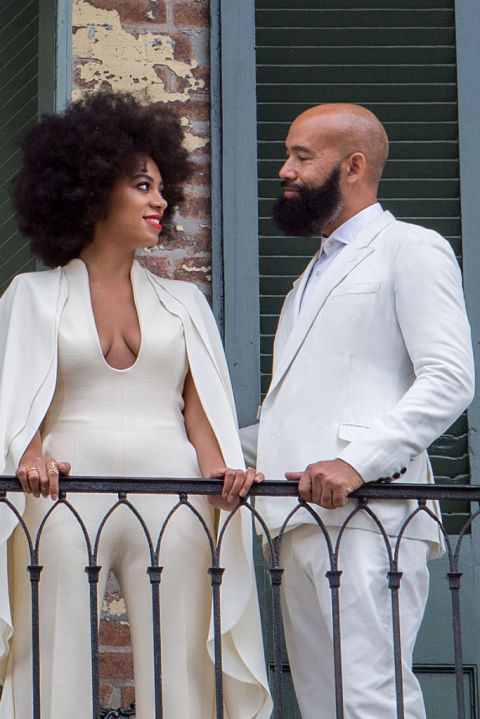 Go natural for your wedding like Solange Knowles did when she married Alan Ferguson in 2014. To make sure your hair is well-moisturized and light on frizz, use a hair mask like Ouidad Curl Immersion Triple Threat Deep Conditioner ($38, ulta.com) beforehand.