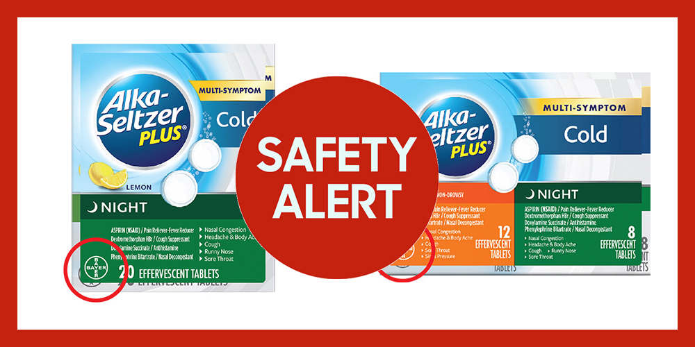 bayer recalls alkaseltzer plus cold medicine products