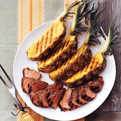 Grilled pineapple pork recipe