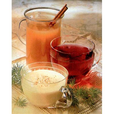 holiday eggnog cider and punch