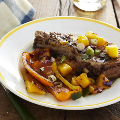 Grilled Pork Chops With Mango Sauce