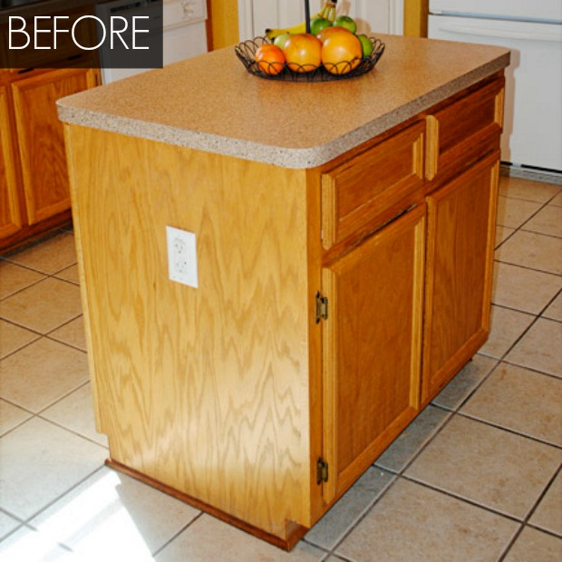 Kitchen Island Makeover Kitchen Before And After