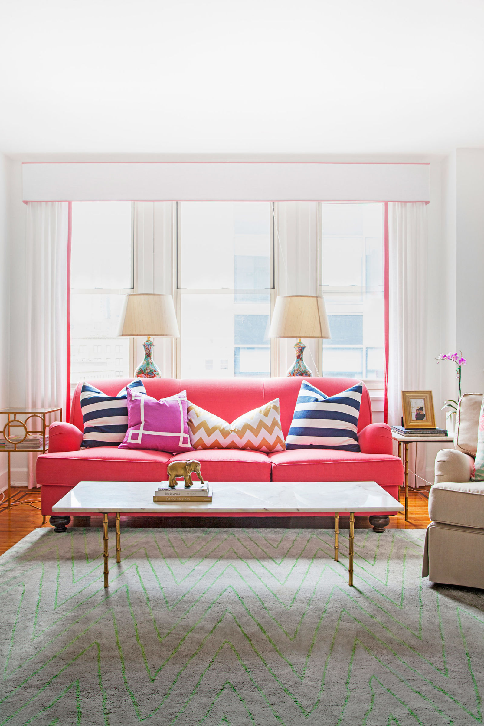 Living Room Sets Philadelphia caitlin wilson philadelphia apartment - colorful home decor