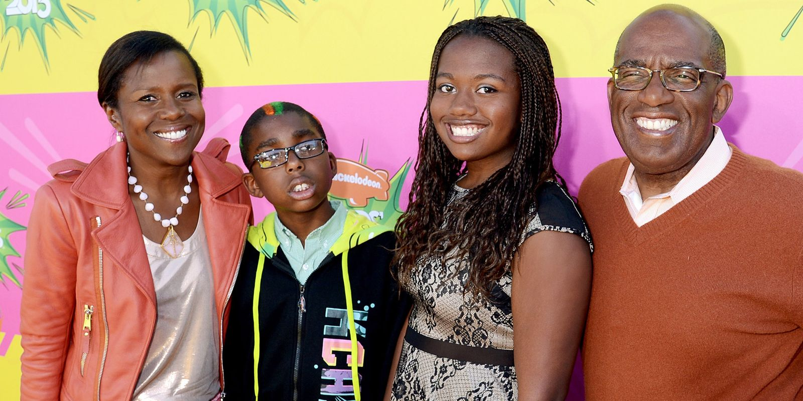 Family photo of the tv-personality, married to Deborah Roberts, famous for Sharknado 2: The Second One. & WordGirl.
