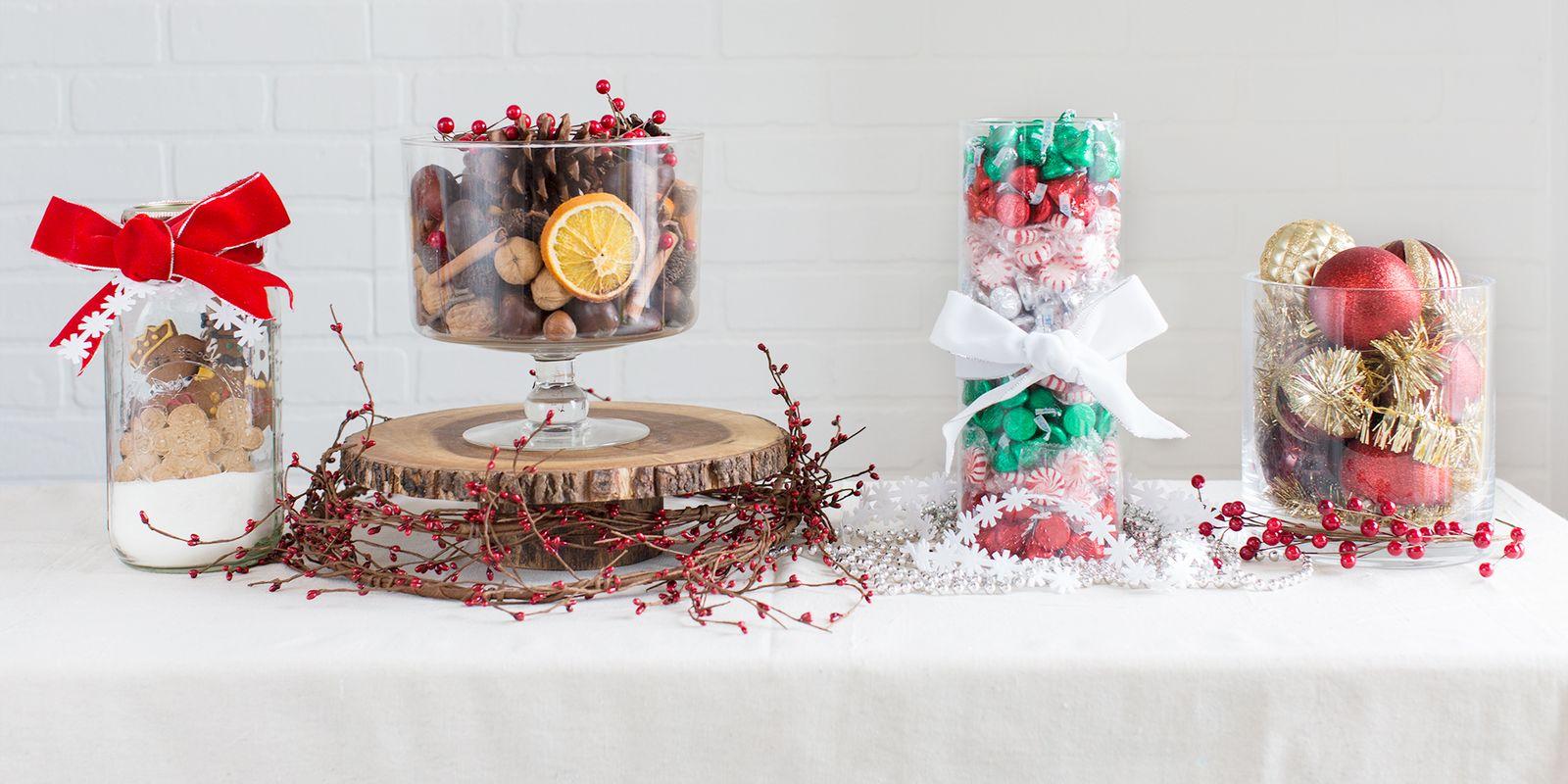 Easy christmas centerpiece vases tabletop ideas