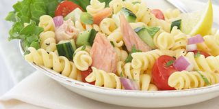 Salmon Pasta Salad With Mint And Lemon Vinaigrette