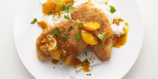 Chicken Cutlets with Oranges and Chutney