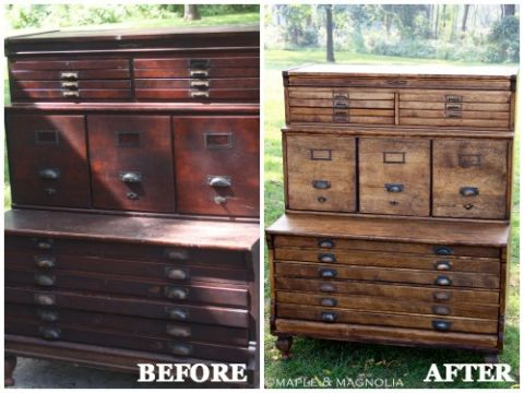 Furniture Makeovers With Stain Diy Furniture Before And Afters