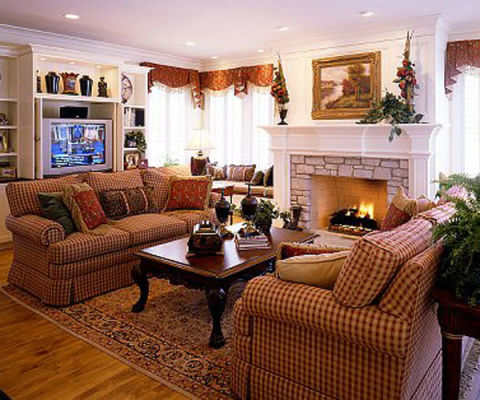 12 family room decorating ideas designs decor for Hanging family pictures in living room