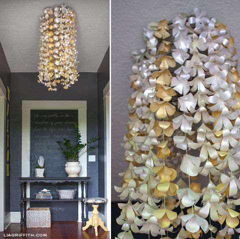Chandeliers you can make yourself homemade chandeliers paper flower garnish aloadofball Choice Image