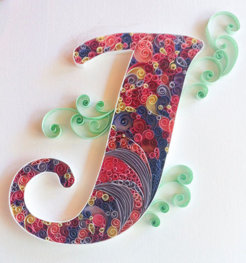 Paper quilling art on etsy handmade paper crafts for Quilling craft ideas